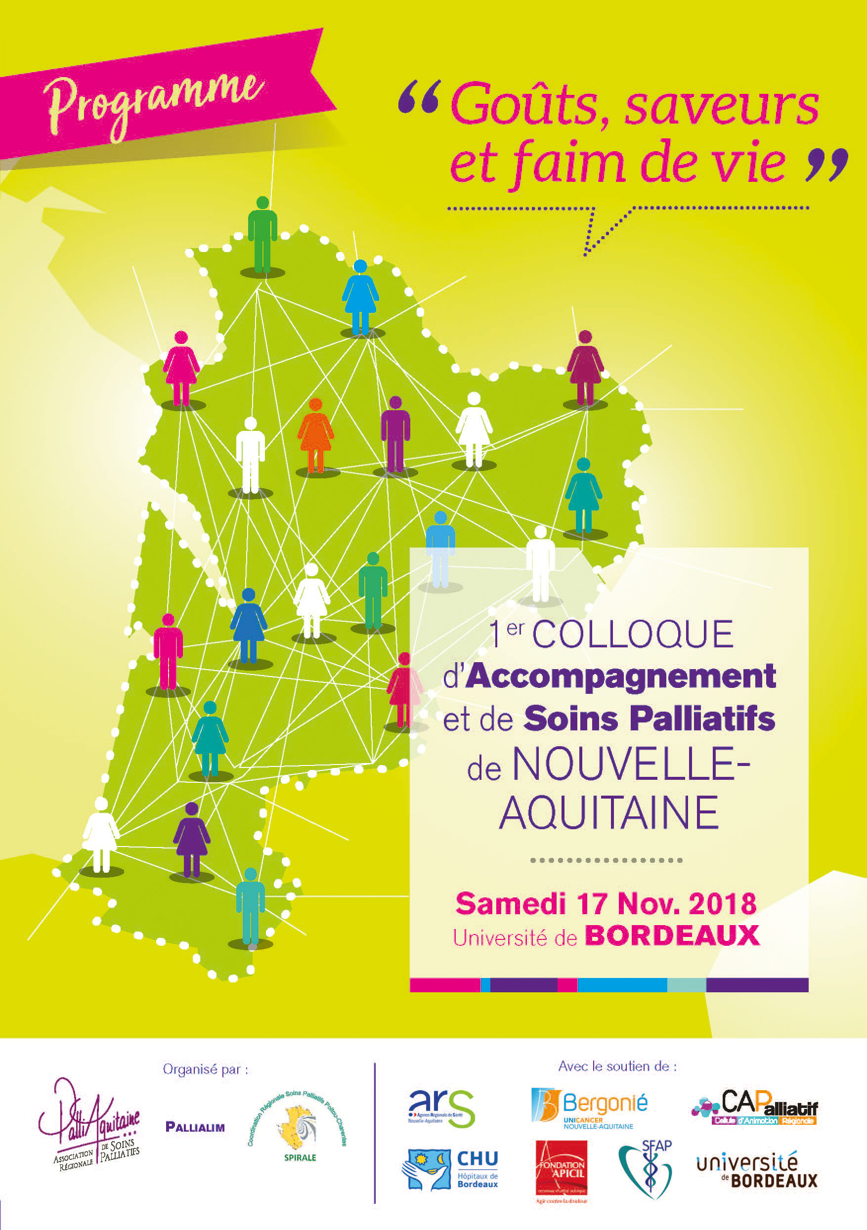Affiche du colloque d'accompagne et de soins palliatifs
